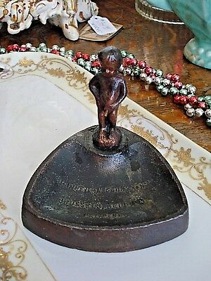 Vintage PEEING BOY MANNEKEN PIS FOUNTAIN Brass ASHTRAY Brussels Souvenir