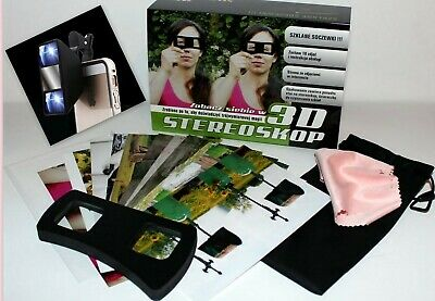 Stereoscope 3D Viewer Glasses for Laptop Magazines CD with 100+ photograghs