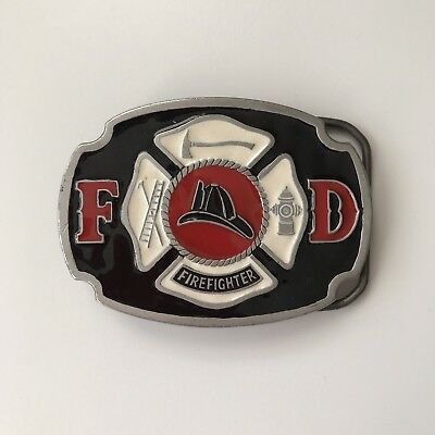Vintage BUCKLE BAKERY Fire Department Firefighter Great American Belt Co. 1985