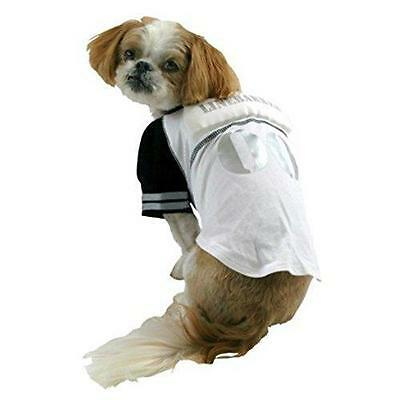 NEW LINE BARKER FOOTBALL LINEBACKER PLAYER DOG HALLOWEEN pet COSTUME M up to 50