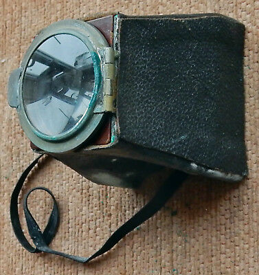 Interesting Brass And Leather Folding Photographic Magnifier ...???