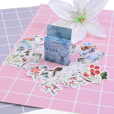 46pcs foggy forest paper decor diy diary scrapbooking label sticker—QY