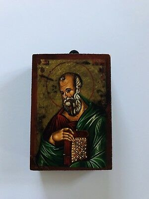Religious Byzantine Hand Painted Icon With Certificate