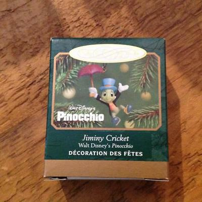 Hallmark Keepsake Ornament Miniature Jiminy Cricket Disney's Pinocchio 2001 NIB