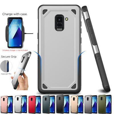 Heavy Duty Hybrid Tough Rugged Armor Case Cover for Samsung Galaxy A5/A6/A8 J330