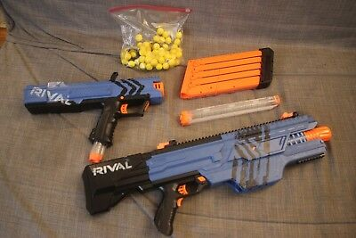 NERF RIVAL BLUE LOT Apollo XV-700 & Khaos MXVI-4000 and approx 50 foam rounds
