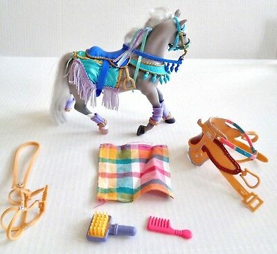 """Breyer Grand Champion Collectible Toy Model Horse 7""""T 2 Saddles Accessories"""