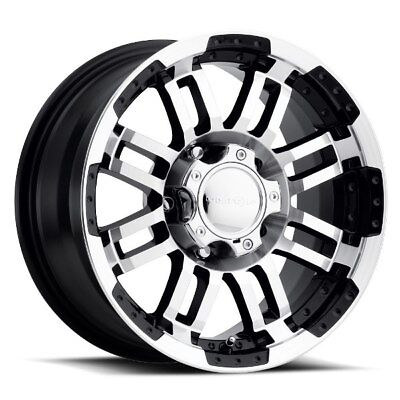 One  17X8.5 Vision 375 Warrior 8x170 ET18 Gloss Black Machined Face Wheel