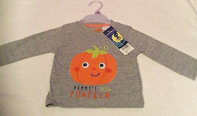 Mummy's Little Pumpkin Tshirt - 3-6 Months - Brand New