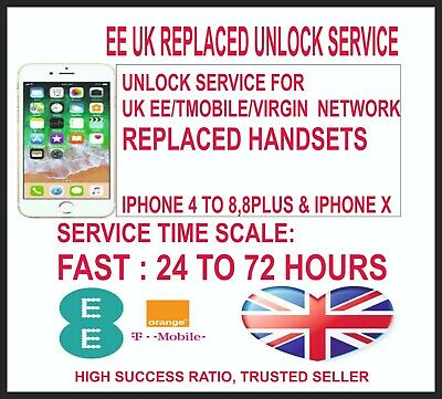 Replaced Ee Iphone Unlock Service For  Iphone 4 To 8,8 Plus And Iphone X