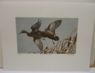 1986 Iowa Duck Stamp and Print Paul F. Bridgford Ducks Unlimited Signed Stamps