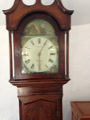 antique longcase grandfather clock, 30 hour mechanism