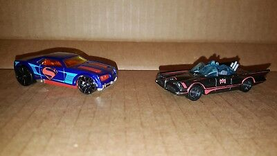 Hot Wheels Batman Superman Super Hero's Lot of 2 Loose Cars