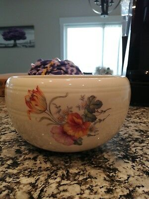 Antique Coors Pottery Thermo Porcelain Bowl~Banded~Floral