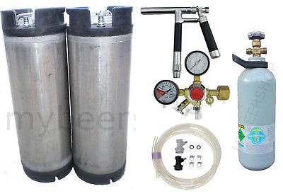 Pluto Gun Ball Lock Kegging Kit Entry Regulator & Co2 Home Brew Beer Keg System