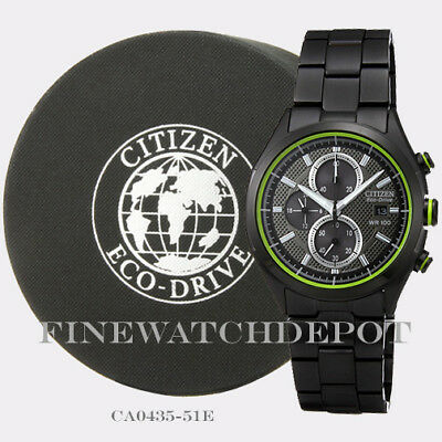 Authentic Citizen Eco-Drive Men's Ion Plated Chronograph Watch CA0435-51E