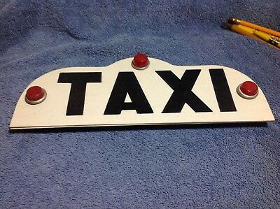 1950's TAXI sign with reflectors
