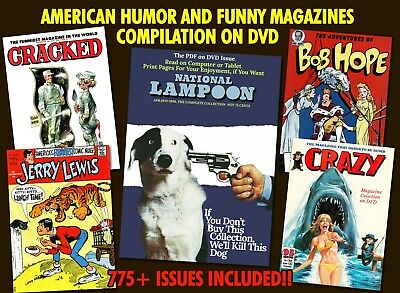 775 Humor Funny Magazines PDF Compilation DVD - National Lampoon, Cracked, Crazy