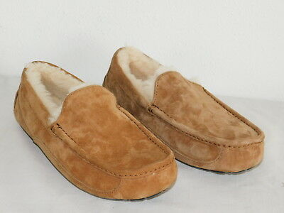 9867aa9fef7 NEW NWOB MENS Size 17 Ugg Ascot 5775 Chestnut Sheepskin Slippers Moccasins  Shoes