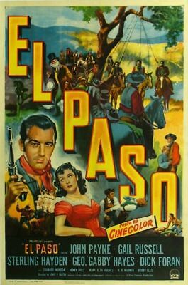 16Mm Feature Film - El Paso 1949  B/w Sound Flat Very  Good