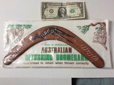 Made In Ausralia Authentic Boomerang-wood-mint in original packaging-never Used