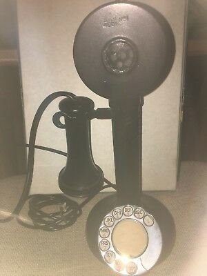 Vintage Rotary Dial Candlestick Telephone