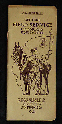 c.1911 B. Pasquale Officers Field Service Catalog, Military Uniforms & Equipment