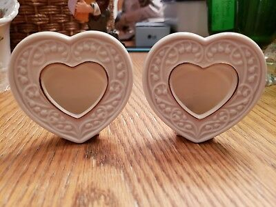 Lenox Heart Shaped Picture Frames **Set of 2!**