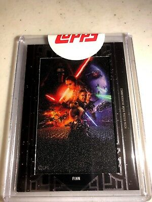 2018 Star Wars Galactic Files FINN Movie Poster Patch CARD - THE FORCE AWAKENS