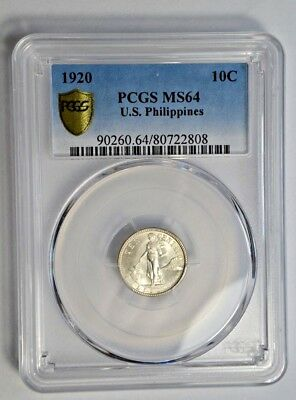 Philippines 1920(P) PCGS MS-64 Territorial Type type 10 centavos silver coin