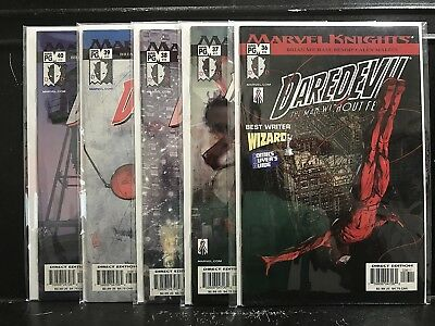Lot of 5 Daredevil #36 37 38 39 40 (1999 Marvel Knights) Combined Shipping Deal!