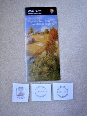WEIR FARM NATIONAL HISTORIC SITE Brochure + 3 Passport Stamps - NPS - New