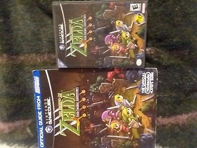 The Legend of Zelda Four Swords Gamecube with guide COMPLETE and TESTED