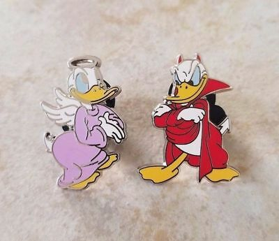 Pin Trading Disney Pin Lot of 2 Set Donald Duck Good Bad Devil Angel Conscience