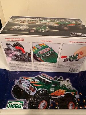 Hess* 2007* Toy* Monster* Truck* And* Motorcycles* Mib* With Bag