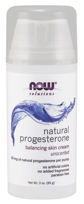 NOW Foods Natural Progesterone Balancing Skin Cream (Unscented)~ 3 oz