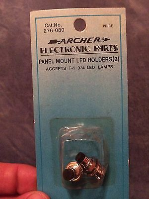Archer Electronic Parts Panel Mount T-1 3/4 LED Holders 276-080 (2 In Pack)