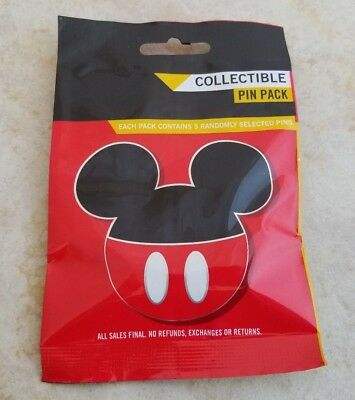Pin Trading Disney Pins Lot of 5 Collectible Pin Pack New Character Mickey Icons