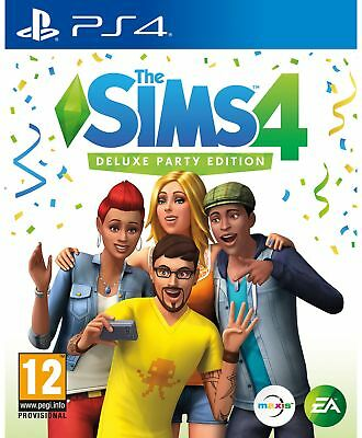 The Sims 4 Deluxe Party Edition PS4 Game.