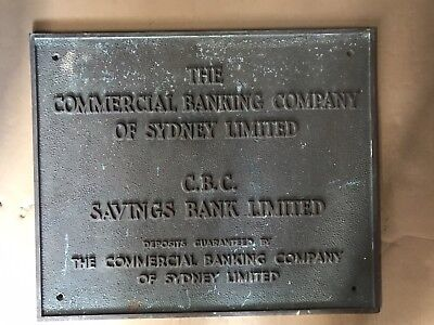 The commercial banking company of sydney limited plaque