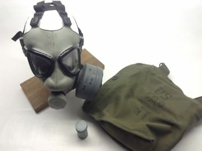 NEW US Military Field Mask  M 9A1 Protective Gear Korean Vietnam Gas Mask Mib