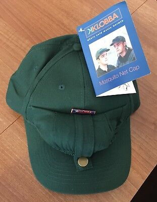 Baseball Cap With Stow Away Mosquito Net Brand New With Tags, Ideal For Fishing