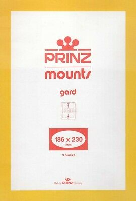Prinz / Scott Stamp Mounts 186x230 mm 3 Clear Strips For Classic Movie Monsters