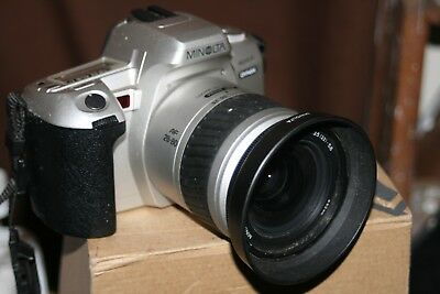Minolta Dynax 404Si 35mm SLR Film Camera +Minolta AF 28-80mm Lens -Fully Working