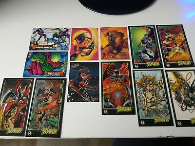 SPIDERMAN ULTRA AND SPAWN SUPER HEROES BULK RARE CARDS trading cards