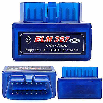 Mini ELM327 OBD2 V1.5 Bluetooth Android BMW Audi Fiat Jeep Ford Benz Jaguar- Kia