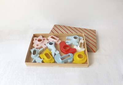 Vintage Plastic Cookie Cutters 10Pc Multi Holiday Christmas Baby Shower More