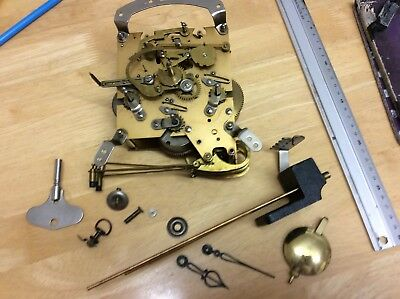 SmitHs Westminster Clock Parts - Mechanism,Chime,Pendulum,Key,Hands Etc (lot C)