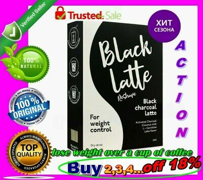 Black Latte Dry Drink 100g Black Charcoal Milk Hendel's Garden Buy 3 + 1 FREE