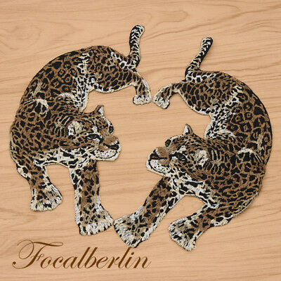 2stk Leopard Panter Patch Kleidung Jeans Flicken Deko Chic Patches DIY Aufnäher